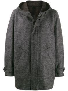 HARRIS WHARF LONDON HARRIS WHARF LONDON HOODED ZIP FRONT COAT - 灰色. #harriswharflondon #cloth