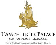L'Amphitrite Palace offers five-star luxury away from the madding crowd of the city, yet it is within easy access to many of Morocco's historic and cultural attractions. Located at Skhirat Plage - beside the Royal Summer Palace, it is just 25 minutes to the capital – Rabat, and a 50-minute drive to the heart of Casablanca.  The resort sits majestically in manicured gardens right at the Atlantic Ocean beachfront. Its private beach is one of the most picturesque in Morocco.