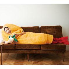 Shrimp tempura wearable sleeping bag