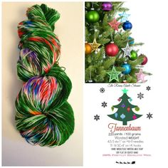 yarn christmas yarn christmas tree yarn sw merino tannenbaum dyed worsted dyed dk dyed fingering green yarn