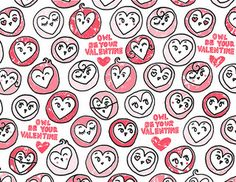 Owl Be Your Valentine hearts gift wrap