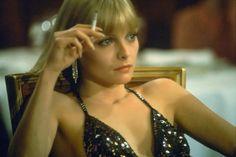 Michelle Pfeiffer in Scarface (1983).