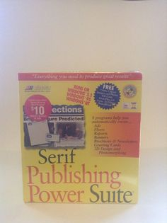 NIP Serif Publishing Power Suite PC Software Create Ads Flyers Reports And More #Serif