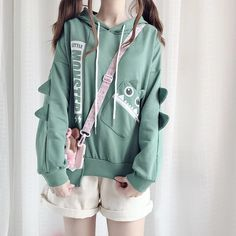 Want or need this cute monster hoodie? Green Kawaii Monster Fleece Hoodie Jumper ⠀ 📩Tap the photo to shop now!📩⠀ ⠀ Explore the gorgeous prom dresses with ! Grunge Look, Style Grunge, 90s Grunge, Soft Grunge, Grunge Outfits, Tokyo Street Fashion, Korean Street Fashion, Kawaii Fashion, Cute Fashion