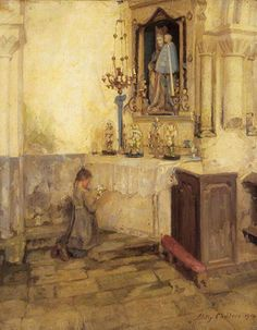 So beautiful ~ A Girl Praying In Church ~ ~ ~ by Milly Childers