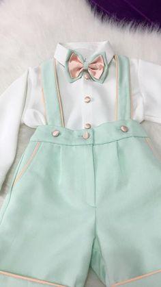 This is a handmade boys mint suit set. Baby Boy Suit Set, Pink Baby Boy, Little Boy Outfits, Baby Boy Outfits, Kids Outfits, Baby Boy Baptism Outfit, Baby Boy Dress, Boys First Birthday Shirt, Baby Boy Shirts