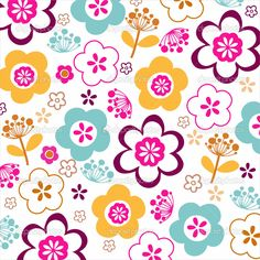 Vector floral seamless pattern — Stock Vector #22150913