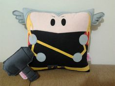 Thor pillow!!! omg, not sure if i should put this in nerdy, or craft.... umm, nerd it is XD