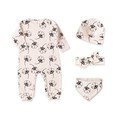 Newborn Girl Take Home Outfit Baby Girl Romper Set by TesaBabe