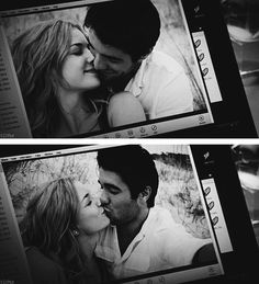 Josh Bowman and Emily VanCamp as Daniel Grayson and Emily Thorne...They are so cute!