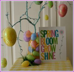 Free printable - Spring subway art - cute for Spring, can leave up a bit longer rather then just an Easter sign.
