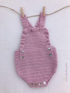 Baby Knitting, Crochet Baby, Crochet Bikini, Crochet Top, Crochet Romper, Crochet Things, Bebe Baby, Romper Pattern, Baby Suit