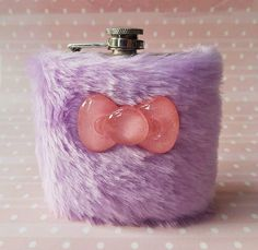 Mega Cute Flask for Her Pastel Goth Furry Hip Flask by Kerenika