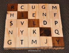 Personalized Scrabble Coasters