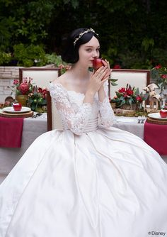 Simple Wedding Dresses, Elegant Tulle & Satin Scoop Neckline Ball Gown Wedding Dress With Beaded Lace Appliques MagBridal Disney Wedding Dresses, Disney Princess Dresses, Disney Dresses, Wedding Gowns, Event Dresses, Dresses Uk, Marie, Ball Gowns, Bridal