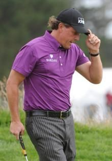 Phil Mickelson I like to watch golf a little. The games are too long. But love this guy he's so awesome and how he made sure he was there for his daughters event. Up standing.