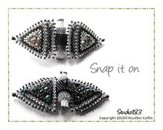Bead weaving pattern for butterfly clasp