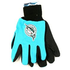MLB Officially Licensed Sports Utility Work Gloves (Florida Marlins)  https://allstarsportsfan.com/product/mlb-officially-licensed-sports-utility-work-gloves-florida-marlins/  Officially Licensed by the Major League Baseball (MLB) One Size Fits Most Machine Washable