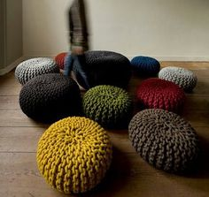 Schön Creative Furniture Made Of Yarn And Thread | Pinterest | Creative, Ottomans  And Stools