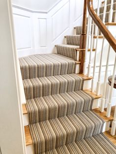 We are the carpet and rug experts in Boston. We will custom fabricate stair runners, area rugs and hall runners to fit your home perfectly. Home Carpet, Carpet Sale, Rugs On Carpet, Carpets, Hall Runner, Rug Runner, New England Homes, New Homes, Green Stripes