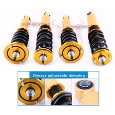 High Performance Nissan Skyline GTST R32 Adjustable Coilovers Shock absorber Coil Spring