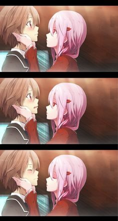 Anime Music, Sad Anime, Anime Kawaii, Belle Cosplay, Manga Cute, Cute Anime Pics, Anime Couples, Cute Couples, Guilty Crown