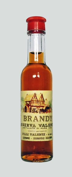 Valenti Eridanea - Mini Liquor Bottles - Brandy - https://sites.google.com/site/valentieridanea/