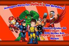 SuperHero Squad Personalized Invite