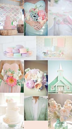 if only there was really a mint green church <3. (Well I'd want it Tiffany blue/light blue