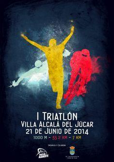 Affiche triathlon Villa Alcala del Jucar