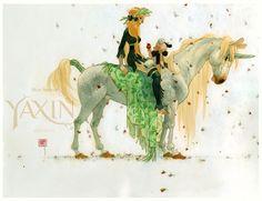 UNICORNIA XLVIII Gabriel the FaunWatercolors. Art by http://man-arenas.tumblr.com/