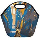 Insulated Lunch Tote Bag Tiger Stalking In Narrow Rock Wall Reusable Neoprene Portable Lunchbox Handbag For Men Women Adult Kids Boys Girls Insulated Lunch Tote, Lunch Tote Bag, Handbags For Men, Rock Wall, Kids Boys, Boy Or Girl, Lunch Box, Girls, Women