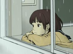 ImageFind images and videos about anime, sad and rain on We Heart It - the app to get lost in what you love. Cute Art Styles, Cartoon Art Styles, Aesthetic Art, Aesthetic Anime, Cartoon Kunst, Anime Scenery, Beautiful Anime Girl, Anime Art Girl, Cute Drawings