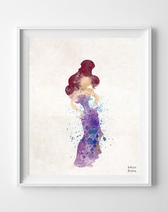 Megara Hercules Disney Meg Poster Print Watercolor by InkistPrints, $11.95