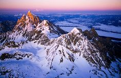 Aerial view of the Teton Range, Wyo. (© National Geographic Image Collection/Alamy)