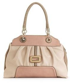 Guess Handbag, Sauvage Satchel TAN Multi « Clothing Impulse