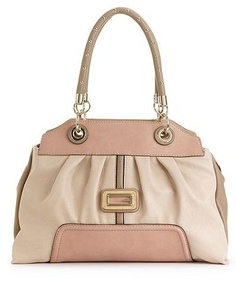 Guess Handbag, Sauvage Satchel TAN Multi « Clothing Impulse