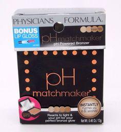 Physicians Formula pH Matchmaker Bronzer 7597 & Pink Lip Gloss pH Powered #PhysiciansFormula #phmatchmaker