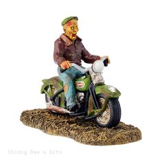 Halloween Village Ghost Rider On The Road 2015 Department 56 4044886 NIB