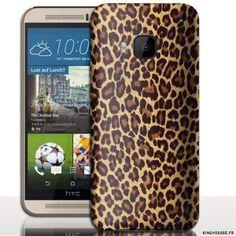 Étui téléphone portable Leopard pour HTC ONE M9 - Coque de protection smartphone. #coque #htc #M9 #leopard #case #cover