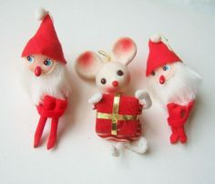 Kitsch Elves and Mouse  Christmas Tree by kitschandcurious on Etsy,
