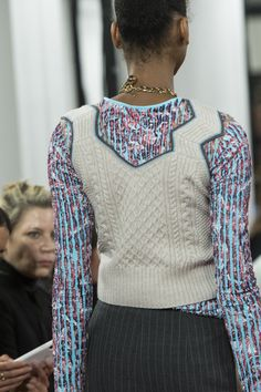 Y Project at Paris Fashion Week Spring 2019 - Details Runway Photos Cable Sweater, Men Sweater, Fashion Week 2018, Knit Fashion, Knitwear, Knit Crochet, Runway, Spring Summer, Turtle Neck