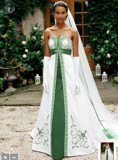 1000 images about green chocolate wedding theme on for White and green wedding dress