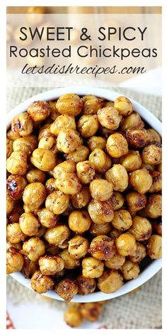 Sweet and Spicy Roasted Chickpeas Recipe | A healthy way to satisfy those snack cravings.
