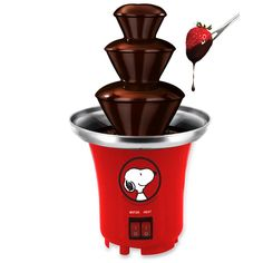Smart Planet SFF1 Peanuts Snoopy Chocolate Fountain, Red