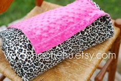 Cheetah and Hot Pink Baby MInky Blanket Custom Made To by HootieHu