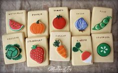 Vegetable Seed Packet Cookies by Melissa Joy | Cookie Connection