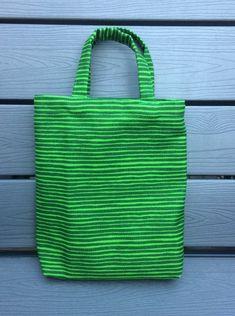 Green Varvunraita small tote bag handmade from Marimekko