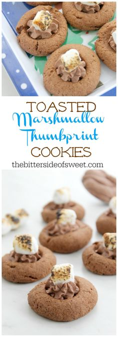Toasted Marshmallow Thumbprint Cookies | The Bitter Side of Sweet
