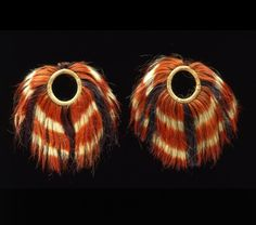 India | Armlets from the Borduaria-Naga people | Hair, plant fiber and dye | 2nd half of the 19th century